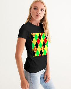 Dwayne Elliott Colection Women's Argyle Graphic Tee - Dwayne Elliott Collection