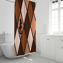 "Load image into Gallery viewer, Dwayne Elliott Collection Brown Shower Curtain 72""x72"" - Dwayne Elliott Collection"