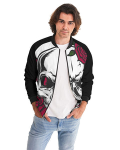 Dwayne Elliott Collection Skull Rose Men's Bomber Jacket - Dwayne Elliott Collection