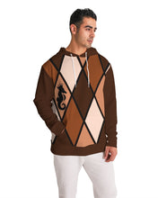 Laden Sie das Bild in den Galerie-Viewer, Dwayne Elliott Collection Burgundy Orange Men's Hoodie - Dwayne Elliott Collection
