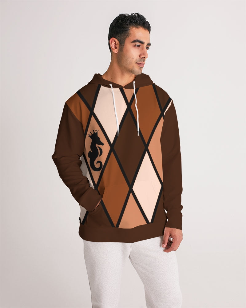 Dwayne Elliott Collection Burgundy Orange Men's Hoodie - Dwayne Elliott Collection
