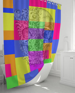 "Skull Bow Shower Curtain 72""x72"""