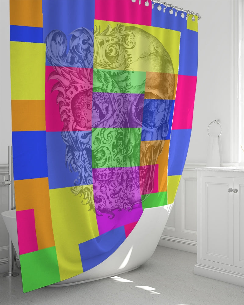 Skull Bow Shower Curtain 72