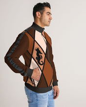 Laden Sie das Bild in den Galerie-Viewer, Dwayne Elliott Collection Men's Stripe-Sleeve Track Jacket - Dwayne Elliott Collection