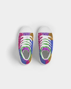 Skull Bow Kids Hightop Canvas Shoe