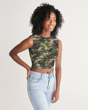 Load image into Gallery viewer, Dwayne Elliott Collection Camo Women's Twist-Front Tank - Dwayne Elliott Collection