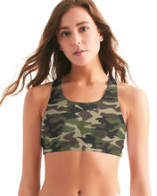 Load image into Gallery viewer, Dwayne Elliott Collection Camo Women's Seamless Sports Bra - Dwayne Elliott Collection