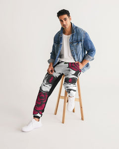 Dwayne Elliott Collection Skull Rose Men's Track Pants - Dwayne Elliott Collection