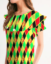 Load image into Gallery viewer, Dwayne Elliott Colection RBG Women's Short Sleeve Chiffon Top - Dwayne Elliott Collection