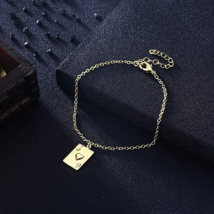 King of Hearts Bracelet in 18K Gold Plated