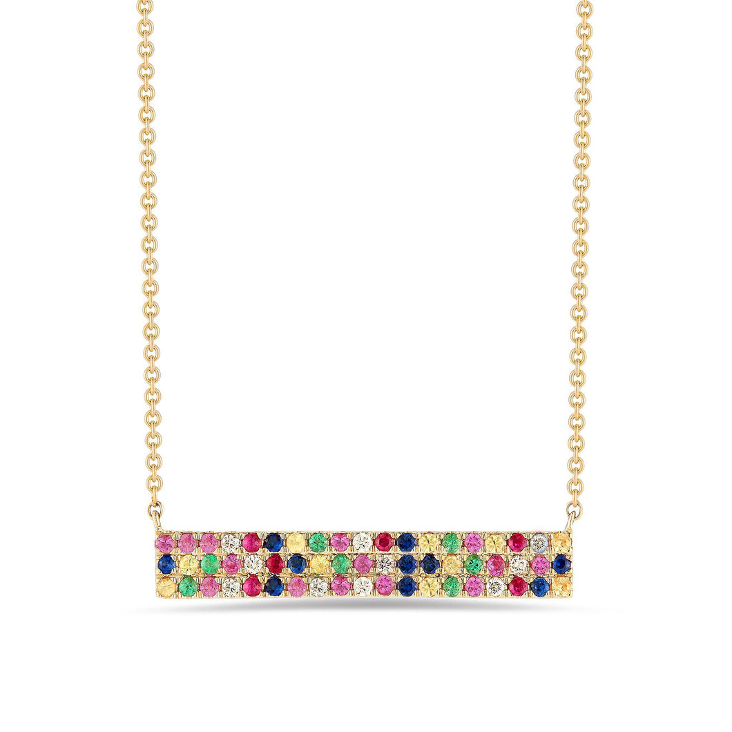 Rainbow Swarovski Elements Pendant Necklaces in 14K Gold (Multiple Options)