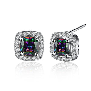 Swarovski Elements Mystic Topaz Stud Earrings