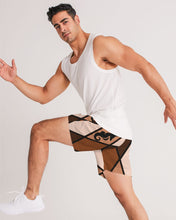 Load image into Gallery viewer, Dwayne Elliott Collection Brown Argyle Men's Jogger Shorts - Dwayne Elliott Collection