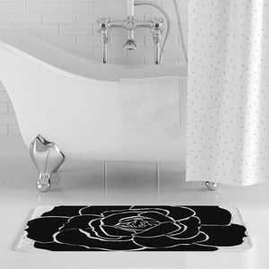 Dwayne Elliot Collection Black Rose Bath Mat - Dwayne Elliott Collection