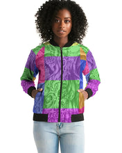 Load image into Gallery viewer, Skull Bow Women's Bomber Jacket