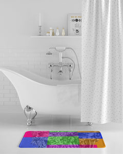 Skull Bow Bath Mat