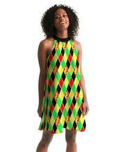 Laden Sie das Bild in den Galerie-Viewer, Dwayne Elliott Colection RBG Women's Halter Dress - Dwayne Elliott Collection