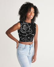 Load image into Gallery viewer, Dwayne Elliot Collection Black Rose Twist-Front Tank - Dwayne Elliott Collection