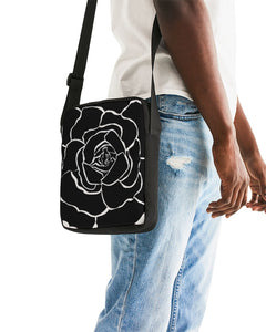 Dwayne Elliot Collection Black Rose Messenger Pouch - Dwayne Elliott Collection