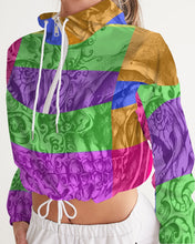 Load image into Gallery viewer, Skull Bow Women's Cropped Windbreaker