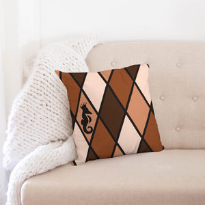 "Dwayne Elliott Collection Brown Throw Pillow Case 18""x18"" - Dwayne Elliott Collection"