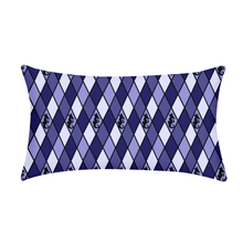 Laden Sie das Bild in den Galerie-Viewer, Dwayne Elliott Collection Blue Argyle King Pillow Case - Dwayne Elliott Collection
