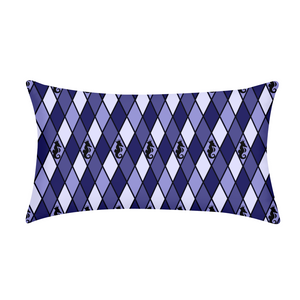 Dwayne Elliott Collection Blue Argyle King Pillow Case - Dwayne Elliott Collection