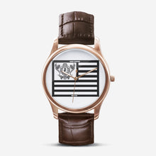 Load image into Gallery viewer, Dwayne Elliott Collection Flag Classic Fashion Unisex Golden Quartz Watch - Dwayne Elliott Collection