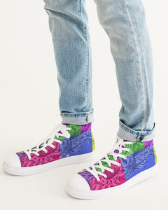 Skull Bow Men's Hightop Canvas Shoe