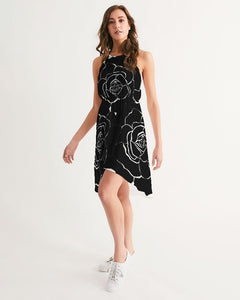 Dwayne Elliot Collection Black Rose High-Low Halter Dress - Dwayne Elliott Collection