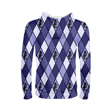 Laden Sie das Bild in den Galerie-Viewer, Dwayne Elliott Collection Blue Argyle Kids Hoodie - Dwayne Elliott Collection