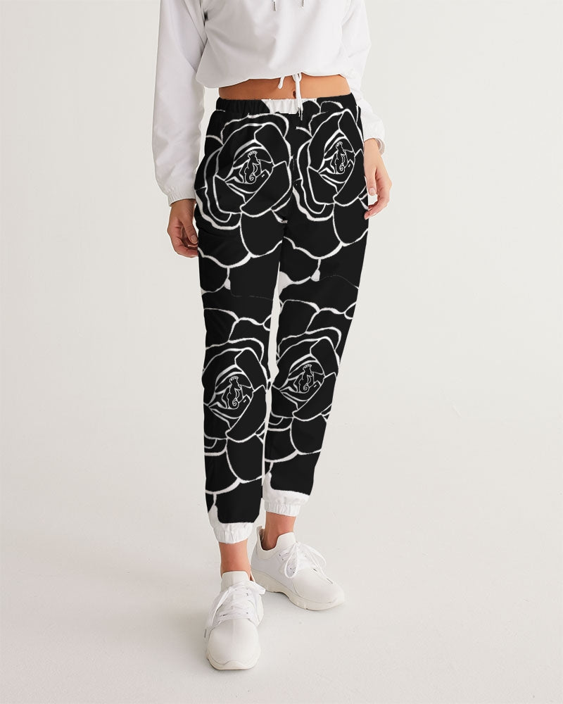 Dwayne Elliot Collection Black Rose Women's Track Pants - Dwayne Elliott Collection