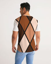 Load image into Gallery viewer, Dwayne Elliott Collection Brown Argyle Men's Tee - Dwayne Elliott Collection