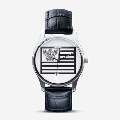 Dwayne Elliott Collection Classic Flag Fashion Unisex Silver Quartz Watch - Dwayne Elliott Collection