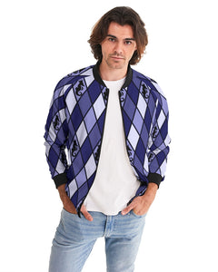 Dwayne Elliott Collection Blue Argyle Menäó»s Bomber Jacket - Dwayne Elliott Collection