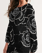Load image into Gallery viewer, Dwayne Elliot Collection Black Rose Long Sleeve Chiffon Dress - Dwayne Elliott Collection