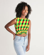 Load image into Gallery viewer, Dwayne Elliott Collection Argyle Twist-Front Tank - Dwayne Elliott Collection