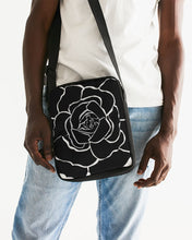 Laden Sie das Bild in den Galerie-Viewer, Dwayne Elliot Collection Black Rose Messenger Pouch - Dwayne Elliott Collection