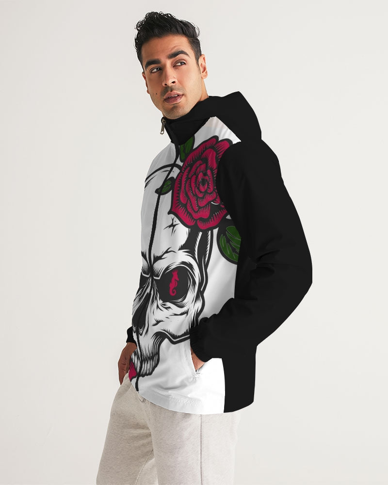 Dwayne Elliott Collection Skull Rose Men's Windbreaker - Dwayne Elliott Collection