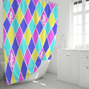 "Dwayne Elliott Collection Argyle Shower Curtain 72""x72"" - Dwayne Elliott Collection"