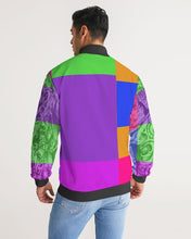 Load image into Gallery viewer, Skull Bow Men's Stripe-Sleeve Track Jacket