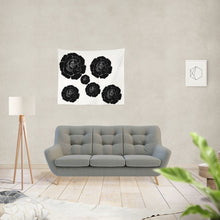 "Laden Sie das Bild in den Galerie-Viewer, Dwayne Elliot Collection Black Rose Tapestry 60""x51"" - Dwayne Elliott Collection"