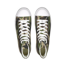 Laden Sie das Bild in den Galerie-Viewer, Dwayne Elliott Collection Camo Hightop Canvas Shoe - Dwayne Elliott Collection