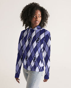 Dwayne Elliott Collection Blue Argyle Women's Hoodie - Dwayne Elliott Collection