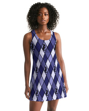Load image into Gallery viewer, Dwayne Elliott Collection Blue Argyle Women's Racerback Dress - Dwayne Elliott Collection