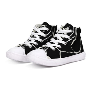 Dwayne Elliot Collection Black Rose Kids Hightop Canvas Shoe - Dwayne Elliott Collection