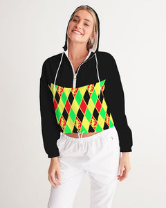 Dwayne Elliott Collection  Argyle Cropped Windbreaker - Dwayne Elliott Collection