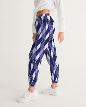 Load image into Gallery viewer, Dwayne Elliott Collection Blue Argyle Women's Track Pants - Dwayne Elliott Collection