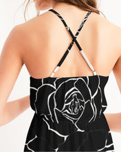 Load image into Gallery viewer, Dwayne Elliot Collection Black Rose High-Low Halter Dress - Dwayne Elliott Collection