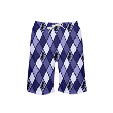 Load image into Gallery viewer, Dwayne Elliott Collection Blue Argyle Boy's Swim Trunk - Dwayne Elliott Collection